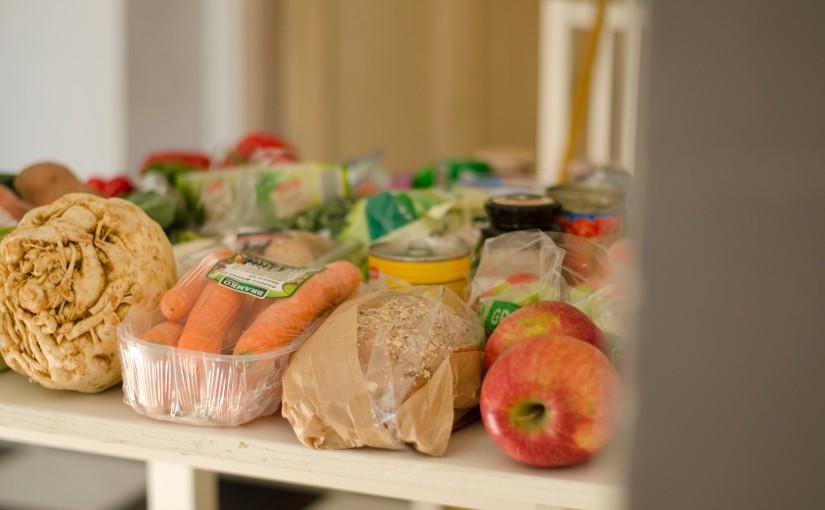 Týdenní nákup vegetariánskérodiny